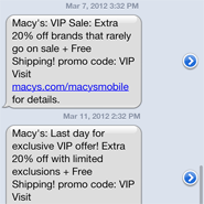 Macy's is another department store that took advantage of its mobile database to drive in-store and mobile sales